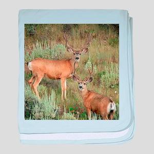 Mule deer velvet baby blanket