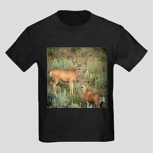 Mule deer velvet Kids Dark T-Shirt