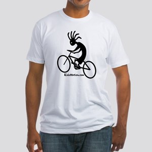 Kokopelli Mountain Biker Fitted T-Shirt