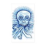 Calaca Dia Muertos Sticker (Rectangle 50 pk)