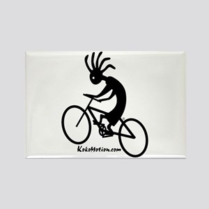 Kokopelli Mountain Biker Rectangle Magnet