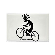 Kokopelli Mountain Biker Rectangle Magnet (10 pack