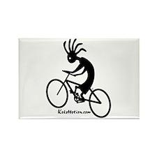 Kokopelli Mountain Biker Rectangle Magnet (100 pac