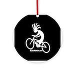 Kokopelli Mountain Biker Ornament (Round)