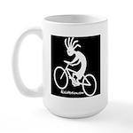 Kokopelli Mountain Biker Large Mug