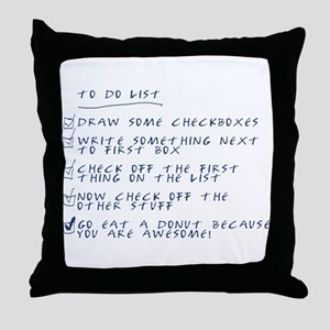 The To-Do List Throw Pillow