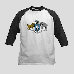 swaziland coat of arms Kids Baseball Jersey