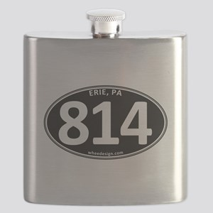 Black Erie, PA 814 Flask