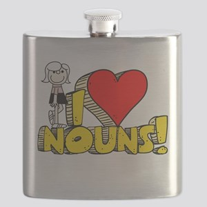 I Heart Nouns - Schoolhouse Rock! Flask
