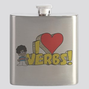 I Heart Verbs - Schoolhouse Rock! Flask