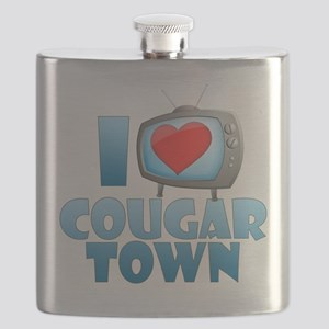 I Heart Cougar Town Flask