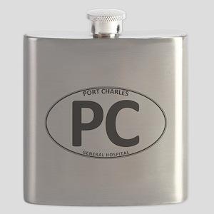 General Hospital - Port Charles PC Oval Flask