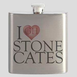I Heart Stone Cates Flask