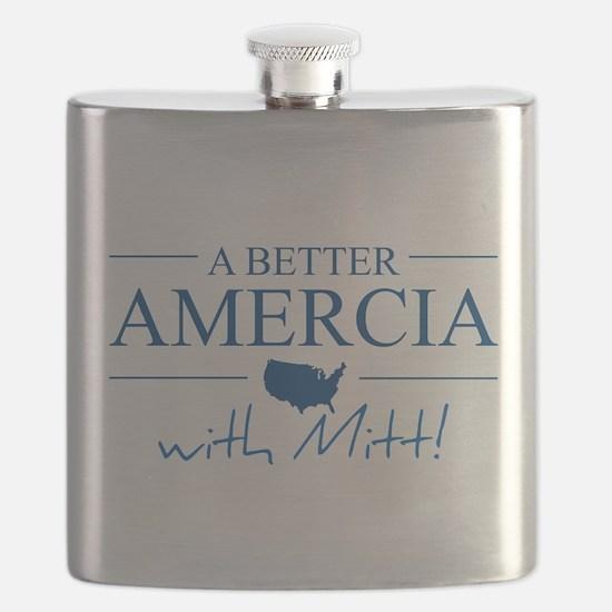 A Better Amercia with Mitt! Flask