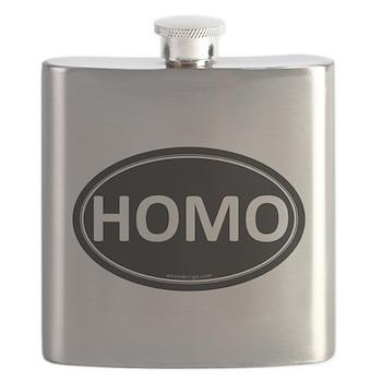 HOMO Black Euro Oval Flask