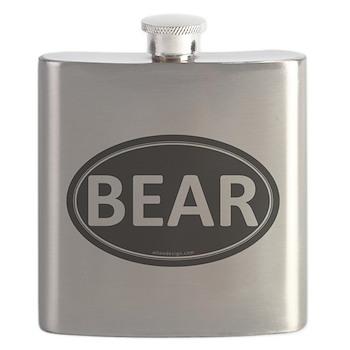 BEAR Black Euro Oval Flask