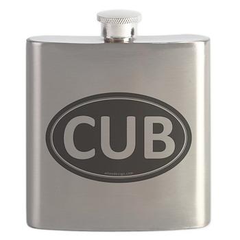 CUB Black Euro Oval Flask