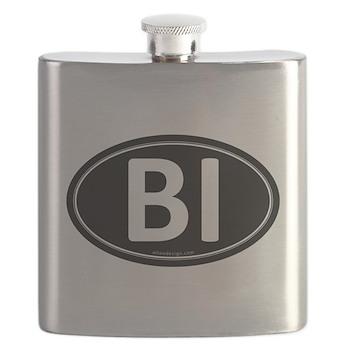 BI Black Euro Oval Flask