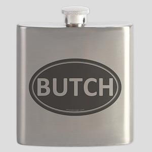 BUTCH Black Euro Oval Flask