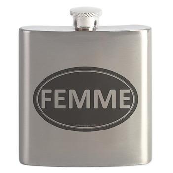 FEMME Black Euro Oval Flask