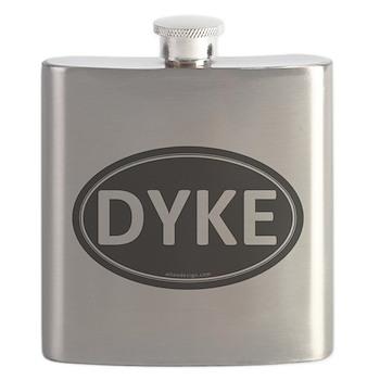 DYKE Black Euro Oval Flask