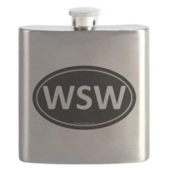 WSW Black Euro Oval Flask