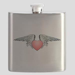 Angel Winged Heart Flask