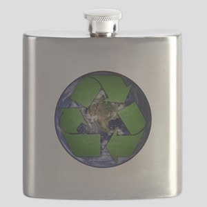 Green Recycle on Earth Flask
