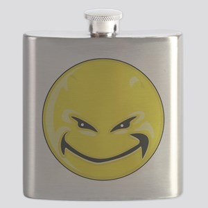 Smiley Face - Yellow Devil Flask