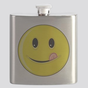 Smiley Face - Licking Lips Flask