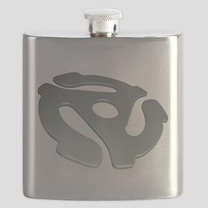 Silver 3D 45 RPM Adapter Flask