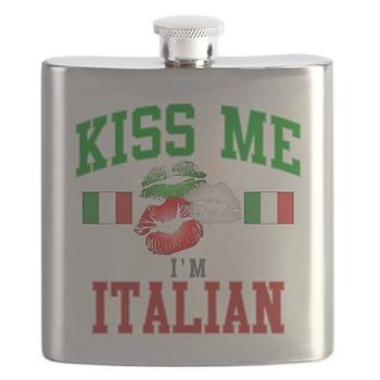 Kiss Me I'm Italian Flask