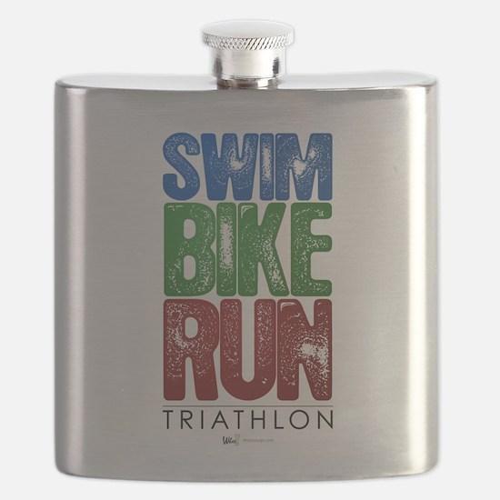 Swim, Bike, Run - Triathlon Flask