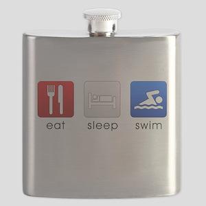 Eat Sleep Swim Flask