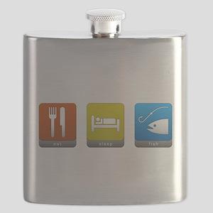 Eat, Sleep, Fish Flask