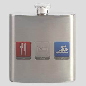 Eat, Sleep, Swim Flask