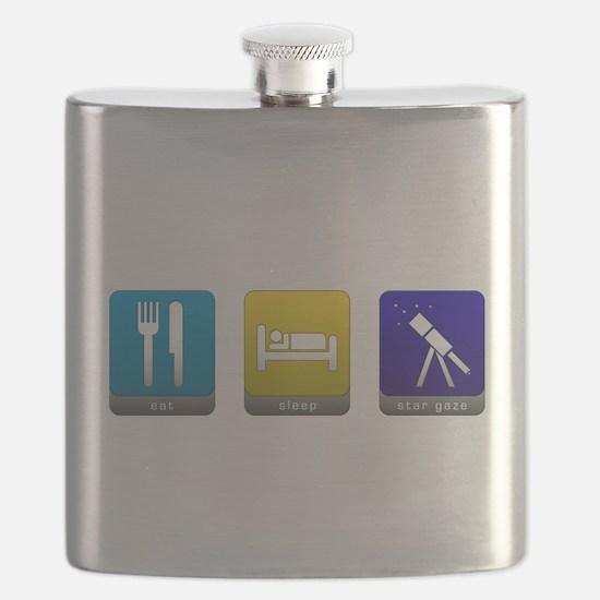Eat, Sleep, Stargaze Flask