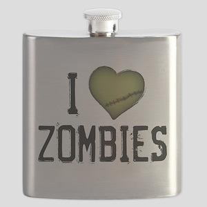 I Heart Zombies Flask