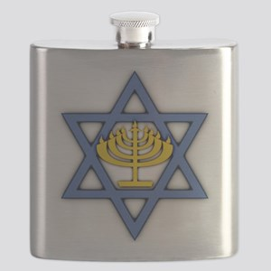Star of David with Menorah Flask
