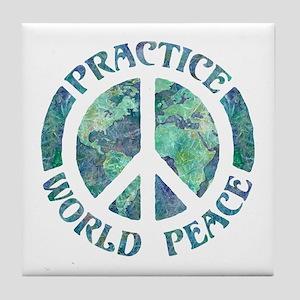 Practice World Peace Tile Coaster
