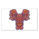Red Quetzalcoatl Sticker (Rectangle 50 pk)