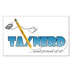 taxNerdFinal333 Sticker (Rectangle 50 pk)