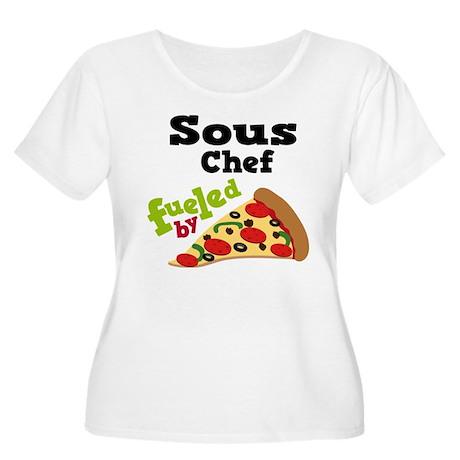 Sous Chef Funny Pizza Women's Plus Size Scoop Neck