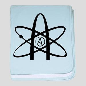 Atheism Symbol baby blanket