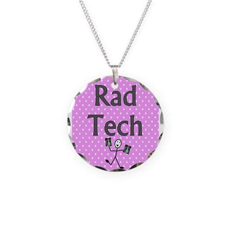 Rad tech tote bag pink polka.PNG Necklace Circle C