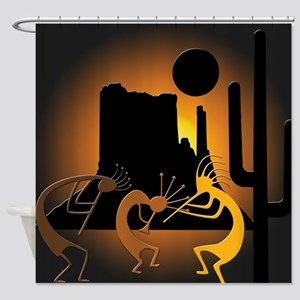 Kokopellis in the Southwest Shower Curtain