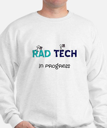 rad tech in progress blue.PNG Sweatshirt