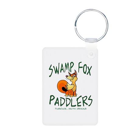 Swamp Fox Paddlers Mascot Aluminum Photo Keychain