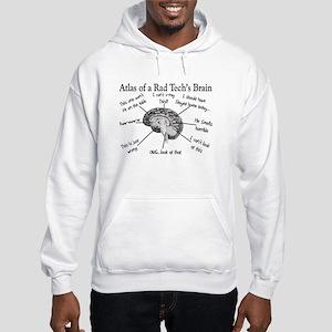 Atlas of a Rad techs brain Hooded Sweatshirt