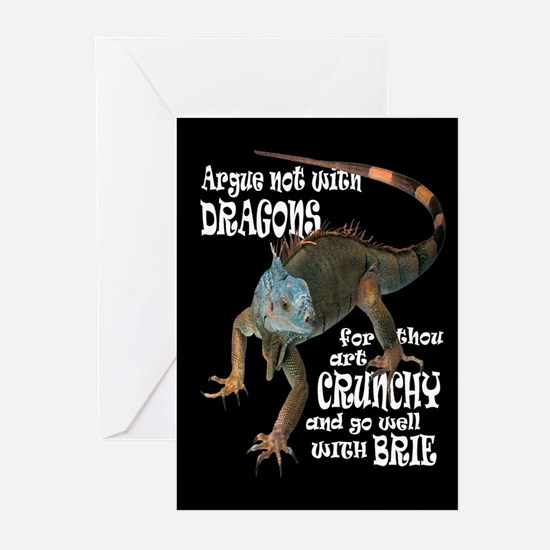 Argue NOT with dragons Greeting Cards (Package of
